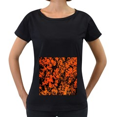 Abstract Orange Background Women s Loose-Fit T-Shirt (Black)