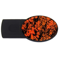 Abstract Orange Background USB Flash Drive Oval (4 GB)