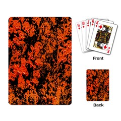 Abstract Orange Background Playing Card