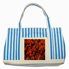 Abstract Orange Background Striped Blue Tote Bag
