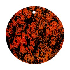 Abstract Orange Background Round Ornament (Two Sides)
