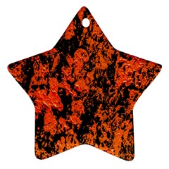 Abstract Orange Background Star Ornament (Two Sides)