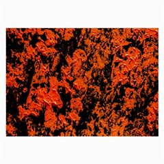 Abstract Orange Background Large Glasses Cloth (2-Side)