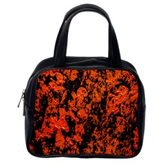 Abstract Orange Background Classic Handbags (One Side)