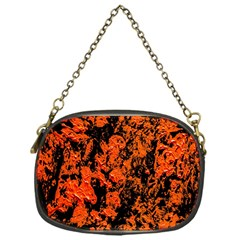 Abstract Orange Background Chain Purses (one Side)