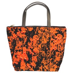 Abstract Orange Background Bucket Bags