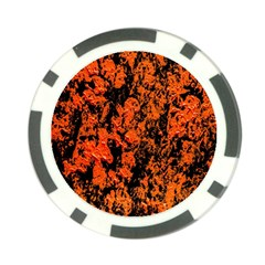 Abstract Orange Background Poker Chip Card Guard (10 pack)