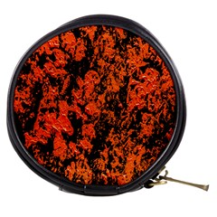 Abstract Orange Background Mini Makeup Bags