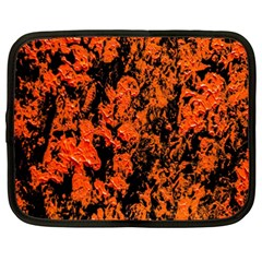 Abstract Orange Background Netbook Case (xxl)