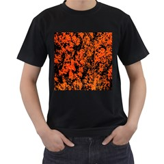 Abstract Orange Background Men s T-Shirt (Black)