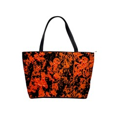 Abstract Orange Background Shoulder Handbags