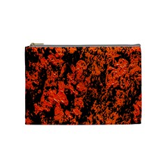 Abstract Orange Background Cosmetic Bag (medium)