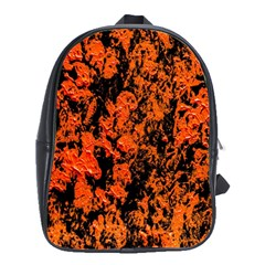 Abstract Orange Background School Bags(large)