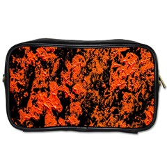Abstract Orange Background Toiletries Bags