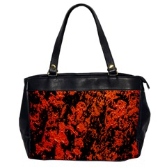 Abstract Orange Background Office Handbags