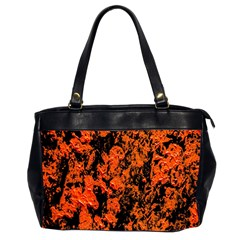Abstract Orange Background Office Handbags (2 Sides)