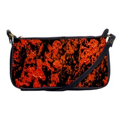 Abstract Orange Background Shoulder Clutch Bags