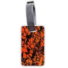Abstract Orange Background Luggage Tags (Two Sides)