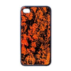 Abstract Orange Background Apple iPhone 4 Case (Black)