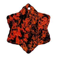 Abstract Orange Background Ornament (Snowflake)