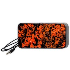 Abstract Orange Background Portable Speaker (black)
