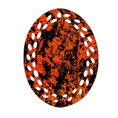 Abstract Orange Background Ornament (oval Filigree)