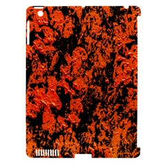 Abstract Orange Background Apple iPad 3/4 Hardshell Case (Compatible with Smart Cover)