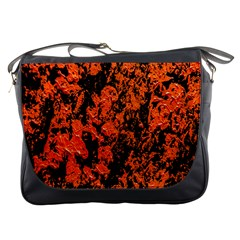 Abstract Orange Background Messenger Bags