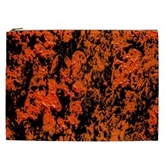Abstract Orange Background Cosmetic Bag (xxl)