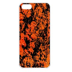 Abstract Orange Background Apple Iphone 5 Seamless Case (white)