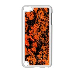 Abstract Orange Background Apple Ipod Touch 5 Case (white)