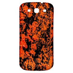 Abstract Orange Background Samsung Galaxy S3 S Iii Classic Hardshell Back Case