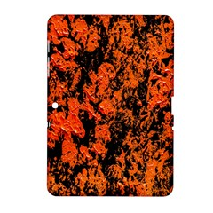 Abstract Orange Background Samsung Galaxy Tab 2 (10 1 ) P5100 Hardshell Case