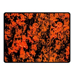 Abstract Orange Background Double Sided Fleece Blanket (small)