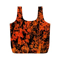 Abstract Orange Background Full Print Recycle Bags (M)