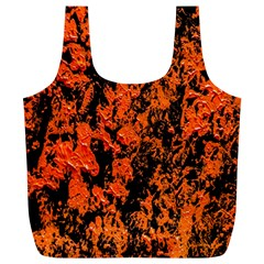 Abstract Orange Background Full Print Recycle Bags (l)