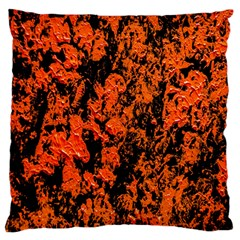 Abstract Orange Background Standard Flano Cushion Case (Two Sides)