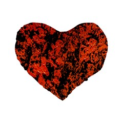 Abstract Orange Background Standard 16  Premium Flano Heart Shape Cushions