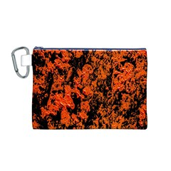 Abstract Orange Background Canvas Cosmetic Bag (m)