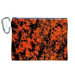 Abstract Orange Background Canvas Cosmetic Bag (xl)