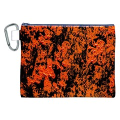 Abstract Orange Background Canvas Cosmetic Bag (xxl)