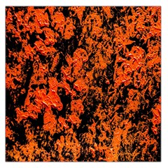 Abstract Orange Background Large Satin Scarf (Square)