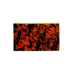 Abstract Orange Background Cosmetic Bag (xs)