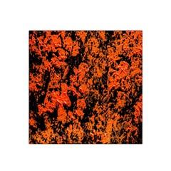 Abstract Orange Background Satin Bandana Scarf