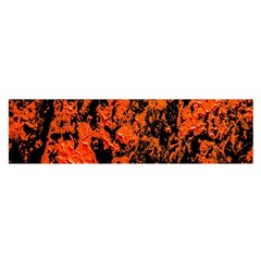 Abstract Orange Background Satin Scarf (oblong)