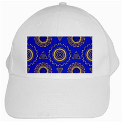 Abstract Mandala Seamless Pattern White Cap