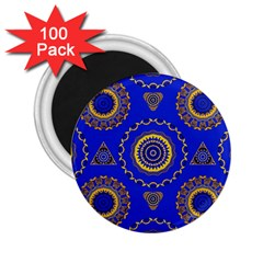 Abstract Mandala Seamless Pattern 2.25  Magnets (100 pack)