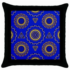 Abstract Mandala Seamless Pattern Throw Pillow Case (Black)