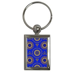Abstract Mandala Seamless Pattern Key Chains (rectangle)