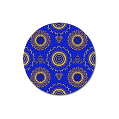Abstract Mandala Seamless Pattern Magnet 3  (Round)